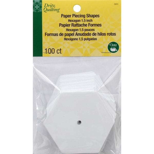 Dritz Quilting Paper Piecing Hexagon1.5in 100/Pkg