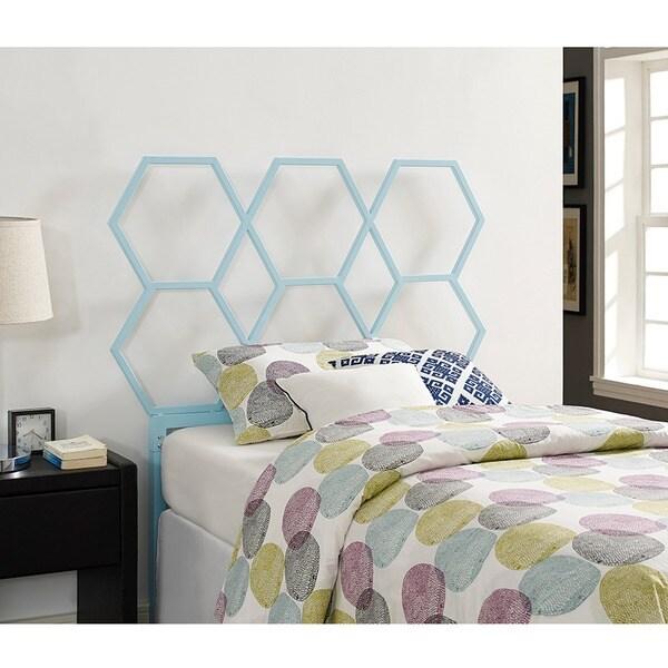 Honeycomb Twin Size Headboard - Blue