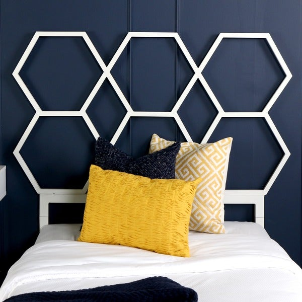 Honeycomb Twin Size Headboard - Yellow