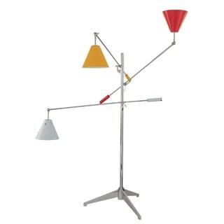Sonneman Lighting Treluci Red, White, Yellow Floor Lamp