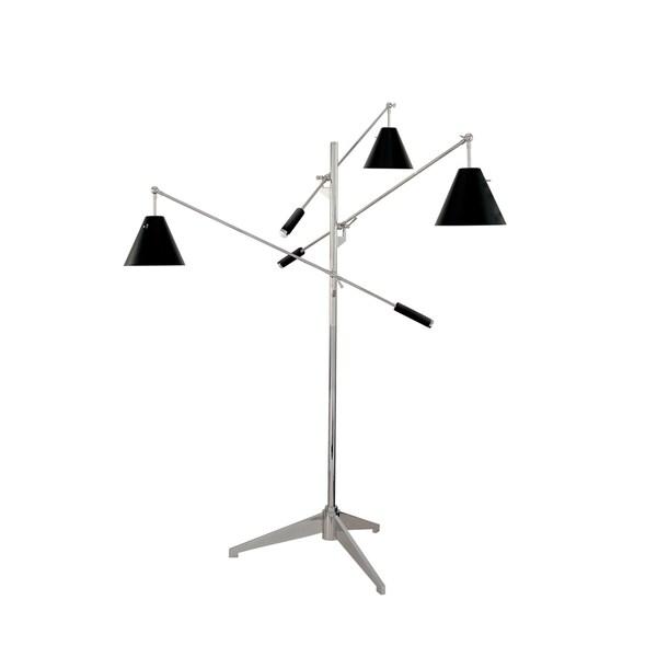 Sonneman Lighting Treluci Black Floor Lamp