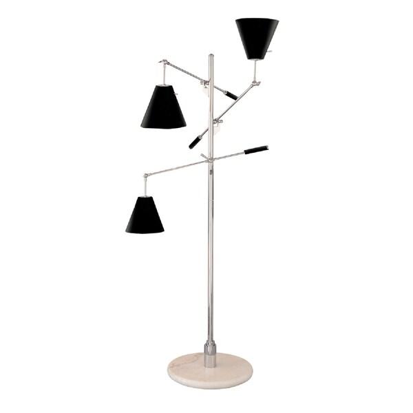 Sonneman Lighting Treluci Piccolo Black Floor Lamp