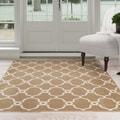 Windsor Home Lattice Area Rug - Dark Beige & Ivory 8' x 10'