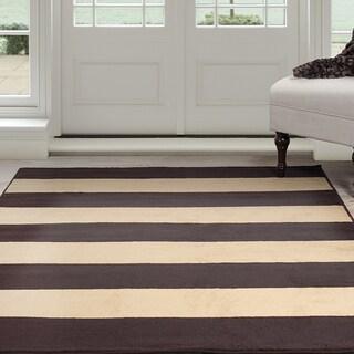 "Windsor Home Autumn Stripes Area Rug - Brown & Tan 5' x 7'7"""