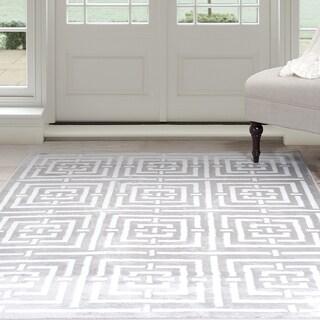 Windsor Home Athens Area Rug - Grey & White 4' x 6'