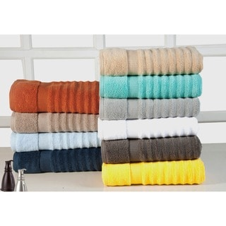 Quick Dry Elegance Spa Zero Twist Cotton Ribbed 6-piece Towel set