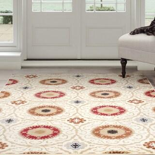 "Windsor Home Royal Damask Area Rug - Cream 5' x 7'7"""