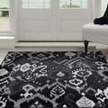 Windsor Home Ikat Area Rug - Black & Grey 3'3