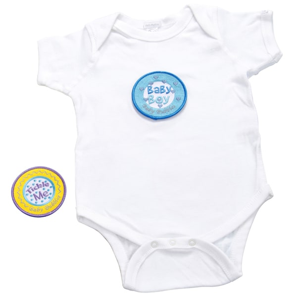 Boys' White Bodysuit with Buttons