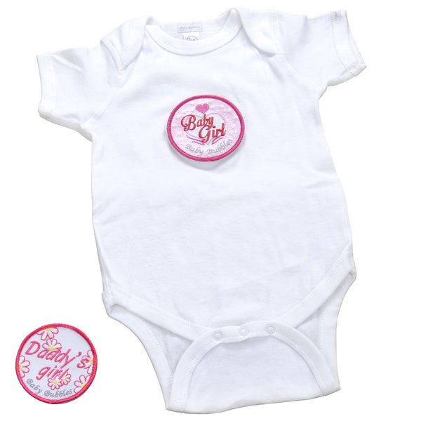 Girls' White Bodysuit with Patches