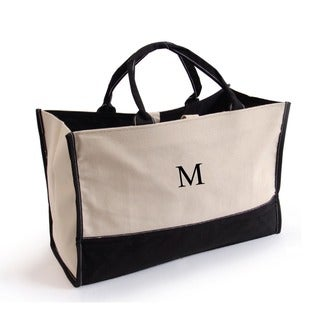 Metro Tote 'em Bag Black Monogrammed Travel Tote Bag