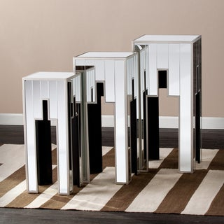 Upton Home Estelle Mirrored Table 3-piece Set