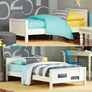Baby Relax Phases and Stages White Toddler-to-Twin Convertible Bed