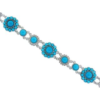Sterling Silver 'Sleeping Beauty' Turquoise Bracelet