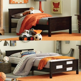 Baby Relax Phases and Stages Espresso Toddler-to-Twin Convertible Bed