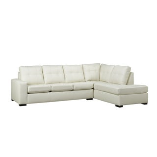 Donald Bonded Leather Tufted Sectional