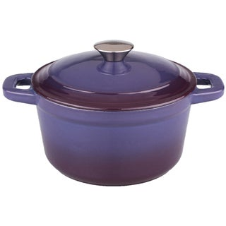Neo 5-quart Purple Cast Iron Round Covered Casserole Dish