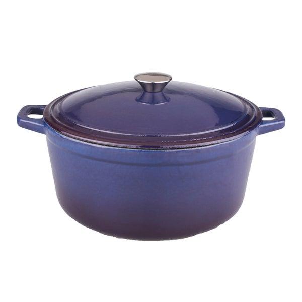 Neo 5-quart Purple Cast Iron Oval Covered Casserole Dish