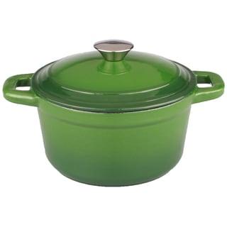 Neo 5-quart Green Cast Iron Round Covered Casserole Dish