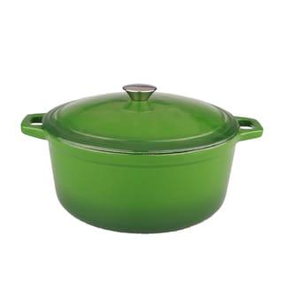Neo 5-quart Green Cast Iron Oval Covered Casserole Dish