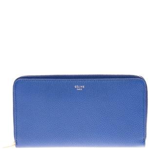 Celine Textured Leather Zip Around Wallet