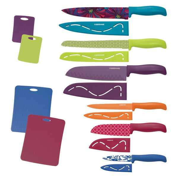 Farberware 16-piece Resin Set With Cutting Boards