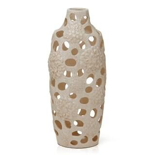 Elements Cream Ceramic Vase