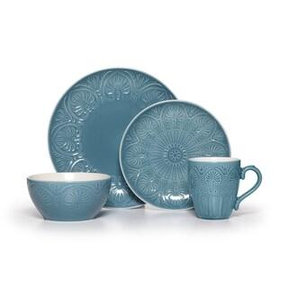 Pfaltzgraff Dolce Turquoise 16-piece Dinnerware Set