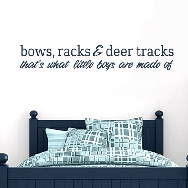 Bows Racks and Deer Tracks 48-inch x 8-inch Vinyl Wall Decal