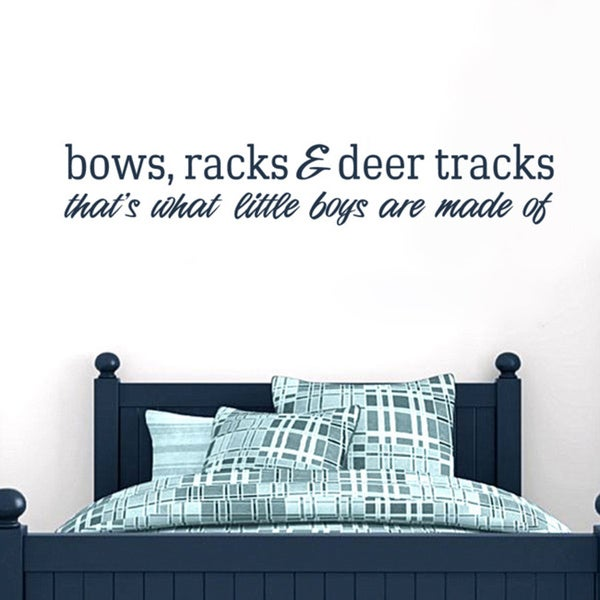 Bows Racks and Deer Tracks 60-inch x 10-inch Vinyl Wall Decal