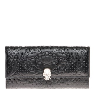 Alexander McQueen Embossed Continental Leather Wallet