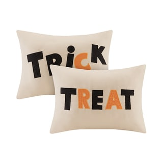Madison Park Trick or Treat Oblong Throw Pillow Pair (Set of 2)