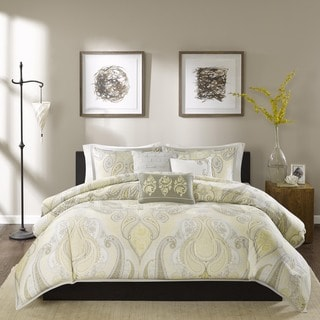 Madison Park Yasmin 6-Piece Cotton Duvet Cover Set