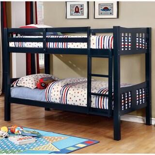 Furniture of America Dai Modern Twin/Twin Solid Wood Bunk Bed
