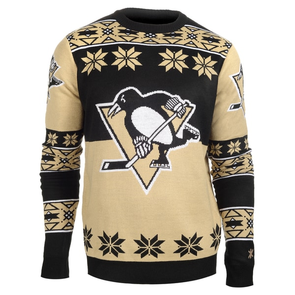 Forever Collectibles Pittsburgh Penguins Big Logo Crew Neck Ugly Sweater
