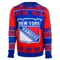 Forever Collectibles New York Rangers Big Logo Crew Neck Ugly Sweater