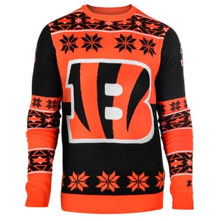 Forever Collectibles NFL Cincinnati Bengals Big Logo Crew Neck Ugly Sweater