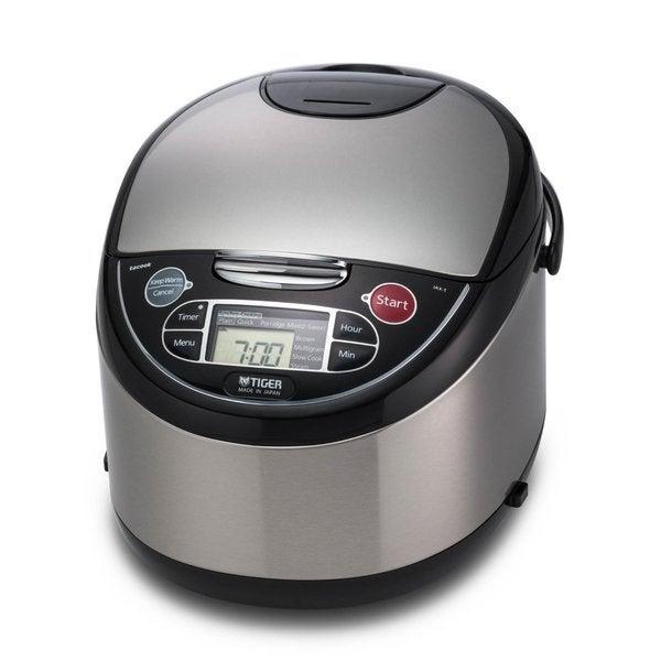 Tiger Corporation JAX-T18U 10-Cup Micom Rice Cooker and Warmer + Tacook Plate
