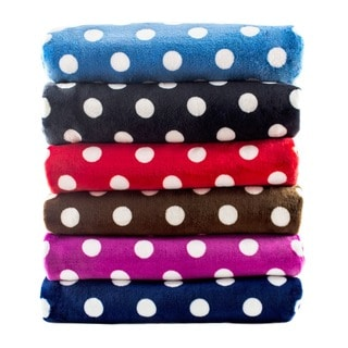 Polka Dot Super Soft Oversized Throw