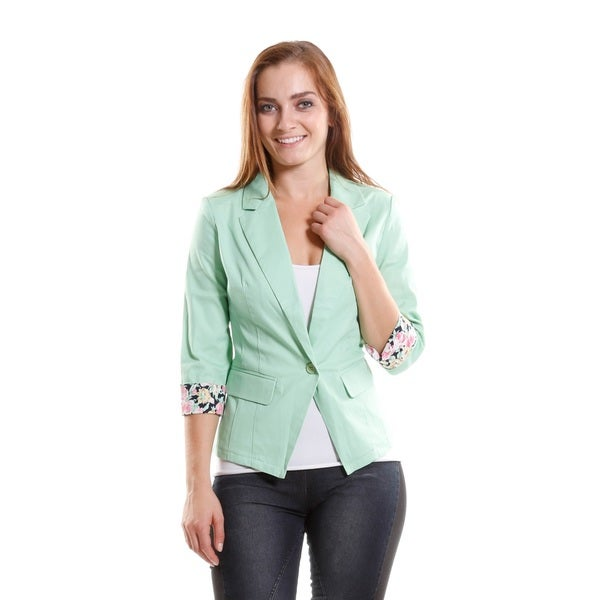 Hadari Women's One Button Blazer