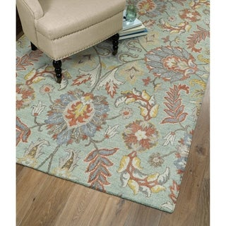 Christopher Agra Mint Hand-Tufted Rug (2'0 x 3'0)
