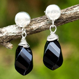Onyx 'From Chiang Mai With Love' Dangle Earrings(Thailand)