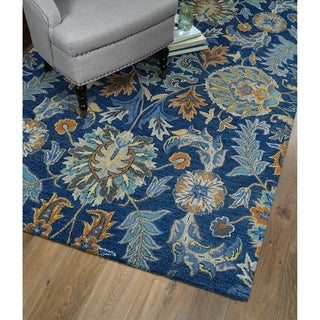 Christopher Agra Blue Hand-Tufted Rug (8'0 x 10'0)