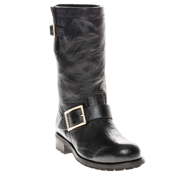 Jimmy Choo Biker Leather Biker Boots