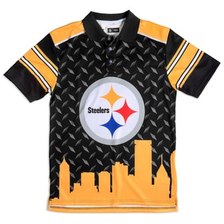 Forever Collectibles Pittsburgh Steelers NFL Polyester Thematic Polo Shirt