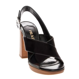 Prada Patent Leather Heeled Sandals