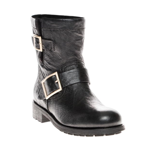 Jimmy Choo 'Youth' Biker Leather Biker Boots 16265066