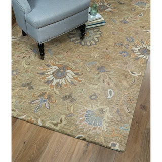 Christopher Kashan Light Brown Hand-Tufted Rug (10'0 x 14'0)