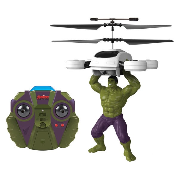 Marvel Comics Officially Licensed Avengers: Age Of Ultron Hulk 2-channel IR RC Helicopter with Sounds 16265221