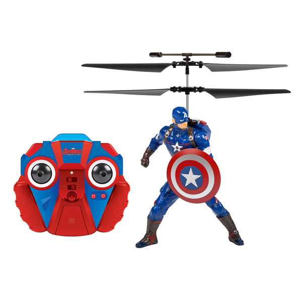 Marvel Comics Officially Licensed Avengers: Age Of Ultron Captain America 2-channel IR RC Helicopter with Sounds 16265245